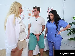 Big Dr Dick Suckers Angelina Castro and Karen Fisher Cure Cock