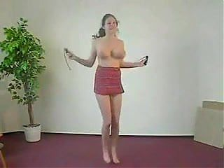 Big tits and a skipping rope!!