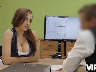 VIP4K. Loan agent fucks customer as he wants and comes on