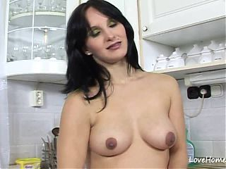 Black haired beauty is pregnant and loves sex.mp4