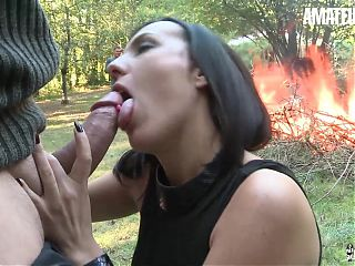 LA COCHONNE, Hot Mya Lorenn Has Anal Sex Outdoors With Her Man