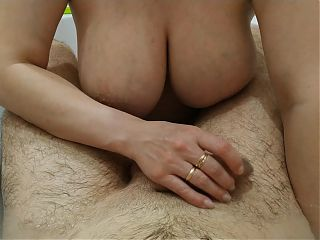 Big Tits And Cock Massage In The Bathroom